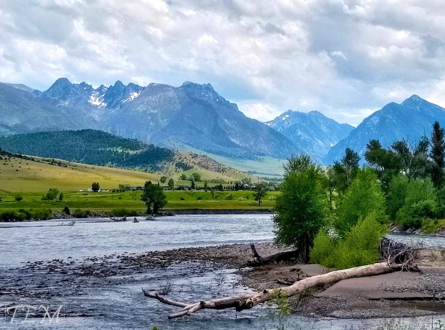 Mountains in Paradise Valley Montana